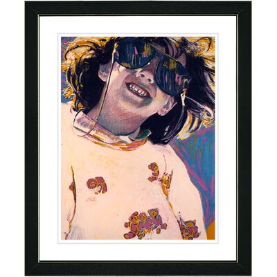 "Studio Works Modern ""Girl with Sunglasses"" by Zhee Singer Framed Fine Art Giclee Painting Print - Frame Color: Black at Sears.com"