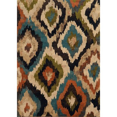 Corben Abstract Blue/Brown Area Rug Rug Size: Runner 110 x 76