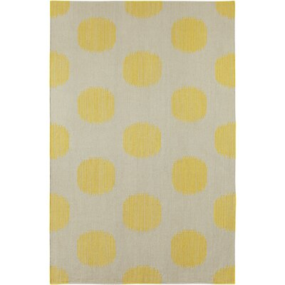 Spots Yellow Area Rug Rug Size: Rectangle 8 x 11