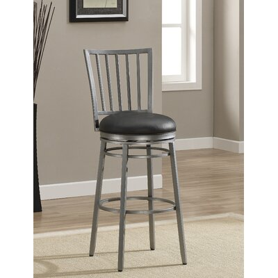 Brambles 26 Swivel Bar Stool with Cushion Finish: Flint