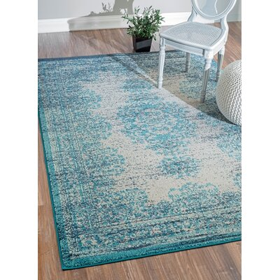 Colmar-Berg Vintage Blue Area Rug Rug Size: Rectangle 53 x 77