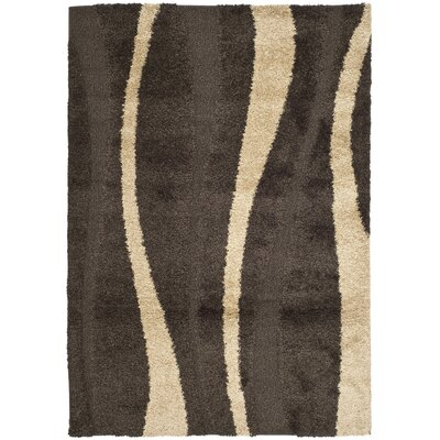 Mika Brown Area Rug Rug Size: Rectangle 6 x 9