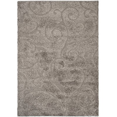 Biller Swirl Gray/Beige Area Rug Rug Size: Square 4