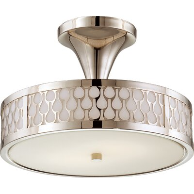 Raindrop 2-Light Semi-Flush Mount