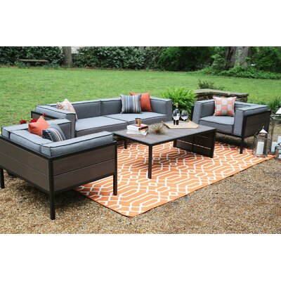Manhattan 4 Piece Sunbrella Sofa Set With Cushions