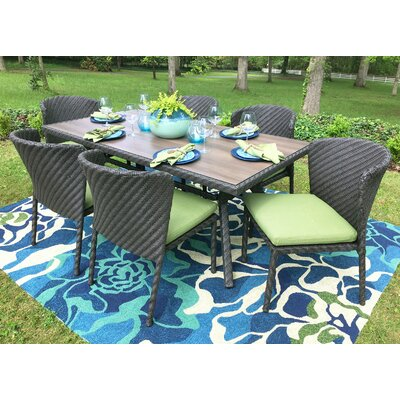 Elaine 7 Piece Dining Set With Cushions