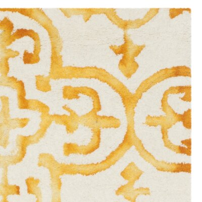 Naples Park Hand-Tufted Yellow Area Rug Rug Size: Runner 23 x 6
