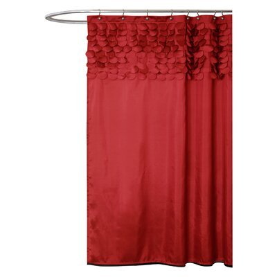 Lillian Shower Curtain Color: Red