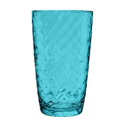 Granada Plastic Water Glasses Color: Aqua