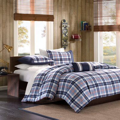 Elliot Plaid Comforter Set Size: Twin / Twin XL