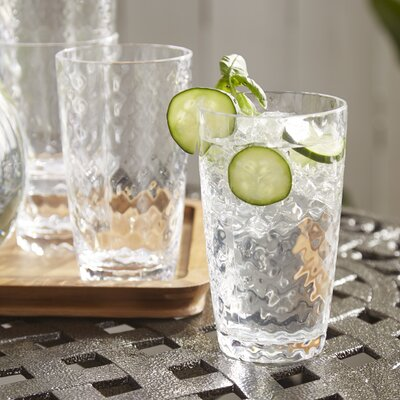 Granada Plastic Water Glasses Color: Clear