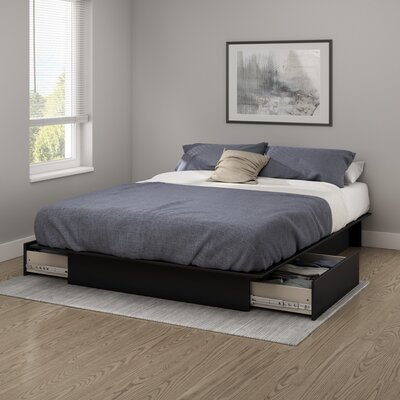 Step One Platform Bed Color: Pure Black, Size: Full/Queen