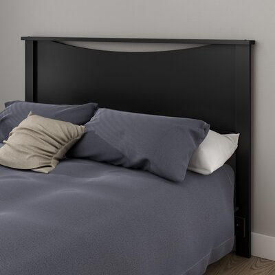 Step One Panel Headboard Size: Full, Color: Pure Black