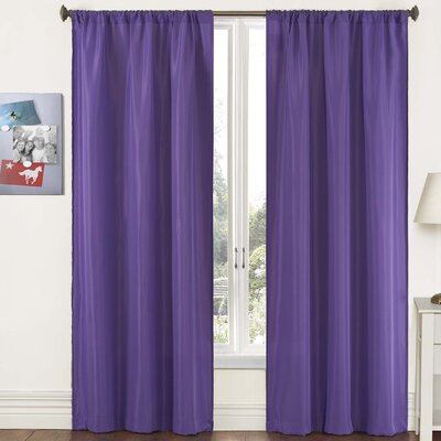 "Pairs To Go Capella Woven Solid Curtain Panel  (Set of 2) - Size: 84"" H x 80"" W, Color: Purple at Sears.com"