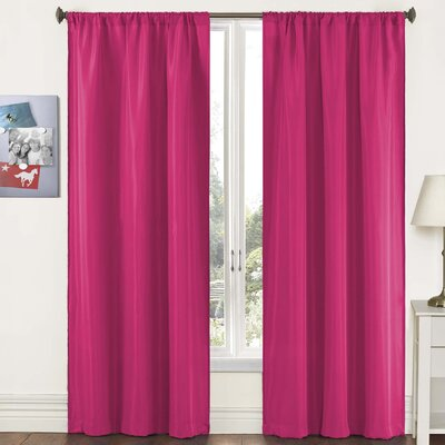 "Pairs To Go Capella Woven Solid Curtain Panel  (Set of 2) - Size: 63"" H x 80"" W, Color: Pink at Sears.com"