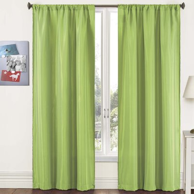 "Pairs To Go Capella Woven Solid Curtain Panel  (Set of 2) - Size: 84"" H x 80"" W, Color: Lime at Sears.com"