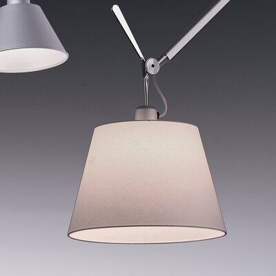 Tolomeo 1-Light Mini Pendant Diffuser Size / Shade Color / Bulb Type: 9.44 / Fibre / 100W Incandescent