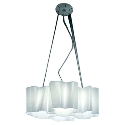 Logico 4-Light Shaded Chandelier Size: 78.75