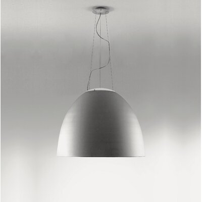 Nur 1-Light Bowl Pendant Finish: Grey