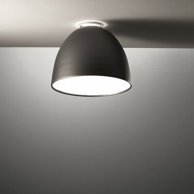 Nur 1-Light LED Flush Mount Finish: Grey