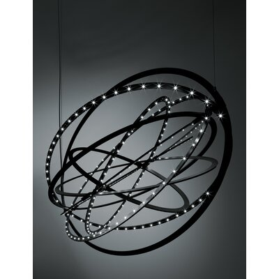 Copernico Geometric Pendant Finish: Black