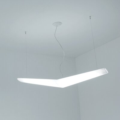 Mouette Symmetrical Suspension Light Bulb Type: Fluorescent 4x24W T5HO DIM 1% 2-WIRE UNV, Feature: Dimmable