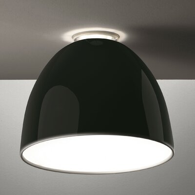 Nur Gloss 1-Light Semi Flush Mount Finish: Black, Bulb Type: Halogen 150W E26 120V UL