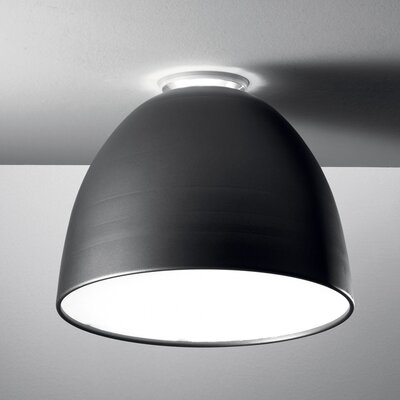 Nur Mini 1-Light Semi Flush Mount Finish: Grey, Bulb Type: 150W Halogen