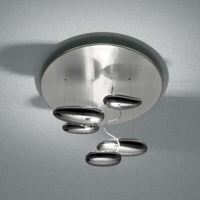 Mercury Mini Ceiling Light Bulb Type: LED 30W 30K DIM 0-10V INOx
