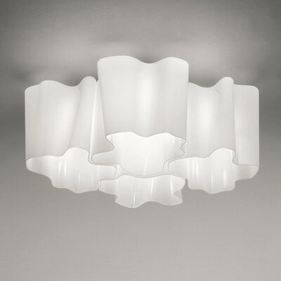 Logico Quadruple Nested Semi Flush Mount Size: 8.25