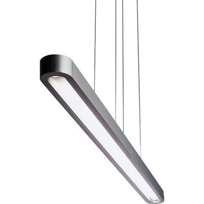 Talo Pool Table Pendant Size / Finish: 60 / Silver / Grey
