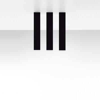 Miyako 1-Light Flush Mount Size: 11.88 H x 2 W x 2 D, Finish: Black