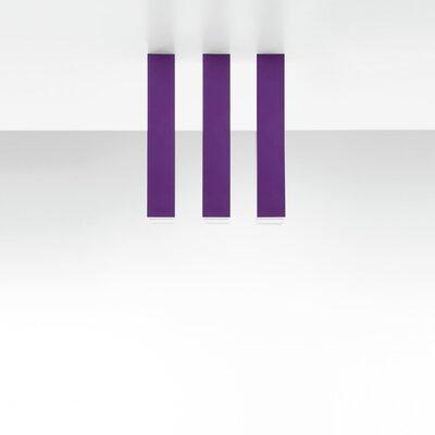 Miyako 1-Light Flush Mount Finish: Purple, Size: 21.63 H x 2 W x 2 D