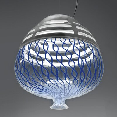 Invero 1-Light Globe Pendant Shade Color: Blue, Size: 15 H x 14 W x 14 D