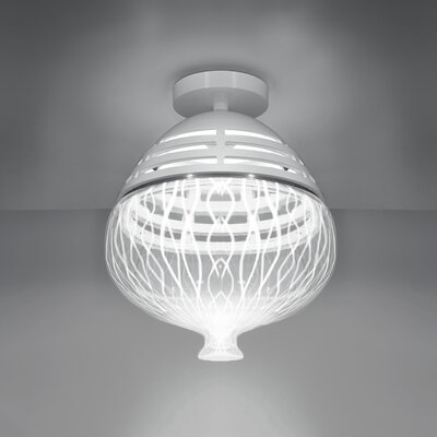 Invero 1-Light Globe Pendant Shade Color: White, Size: 15 H x 14 W x 14 D