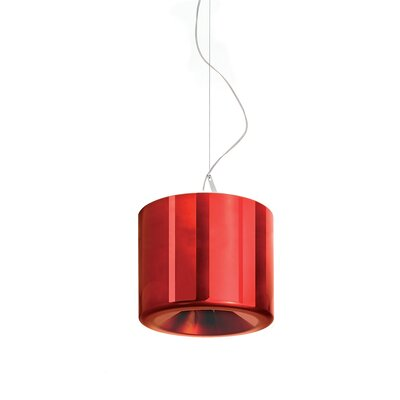 Tet 1-Light Mini Pendant Finish: Red