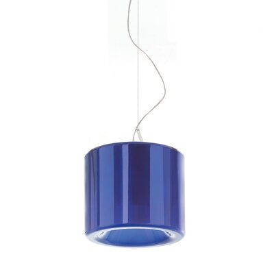 Tet 1-Light Mini Pendant Finish: Blue