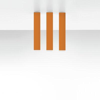 Miyako 1-Light Flush Mount Size: 11.88 H x 2 W x 2 D, Finish: Orange