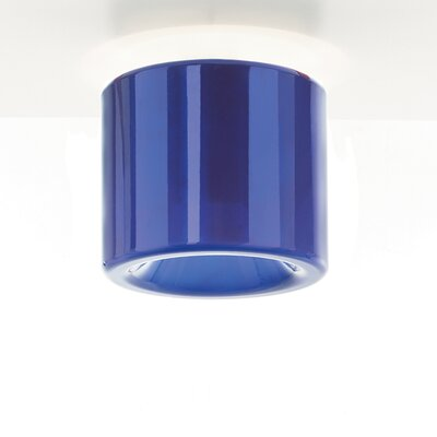 Tet 1-Light Flush Mount Finish: Blue