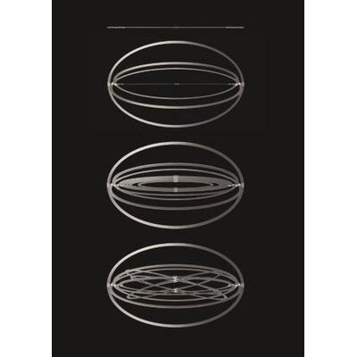 Copernico Geometric Pendant Finish: Grey