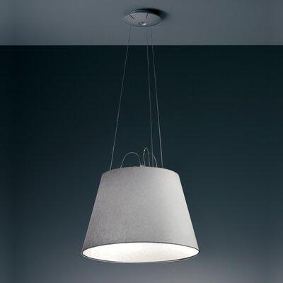 Tolomeo Flourescent Mega Suspension Light Finish: Fiber, Diffuser Size: 20.5