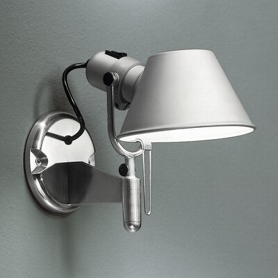 TOLOMEO WALL SPOT INC 75W E26 ALUM W/SWITCH