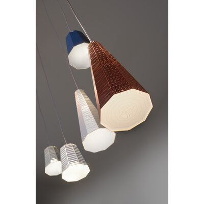 Null Vector Alfa 1-Light LED Mini Pendant Finish: Blue