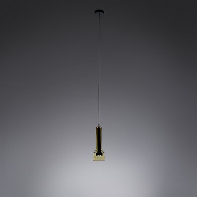 1-Light Inverted Pendant Shade Color: Amber
