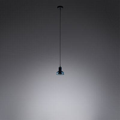 1-Light Mini Pendant Shade Color: Aqua