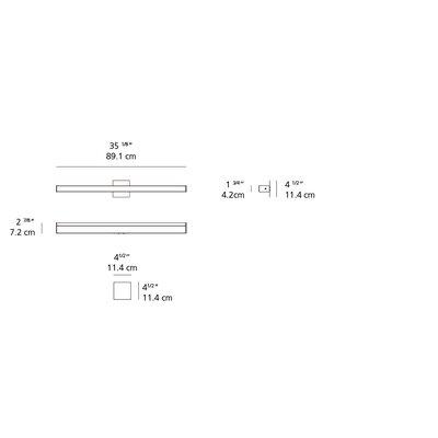 Ledbar Square 1-Light Flush Mount Size: 1.75 H x 35.08 W x 2.83 D