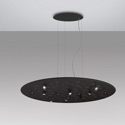 Silent Field 12-Light Geometric Pendant Finish: Black/White