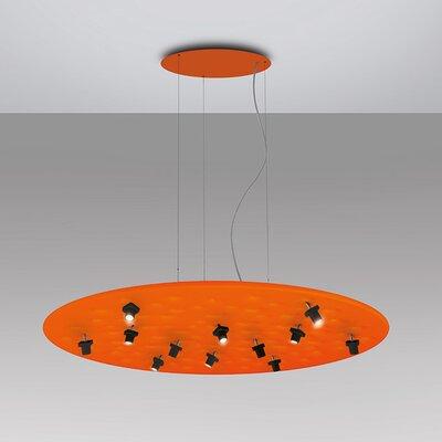Silent Field 12-Light Geometric Pendant Finish: Orange/Black
