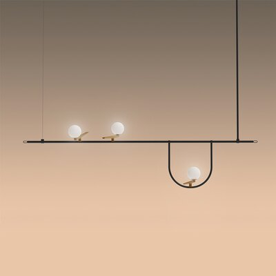 Yanzi Suspension 3-Light LED Kitchen Island Pendant