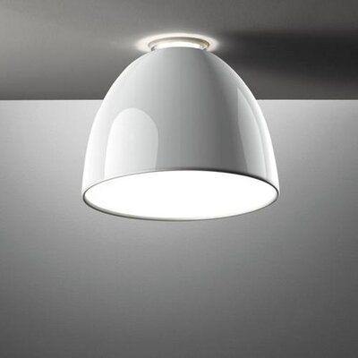 Nur Mini Gloss 1-Light Semi Flush Mount Finish: White, Bulb Type: 150W Halogen